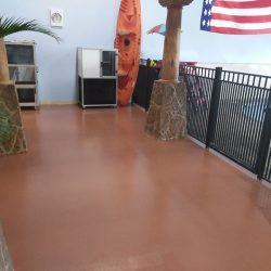Epoxy floor at indoor pool in Jacksonville