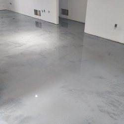 Beautiful residential metallic epoxy floors