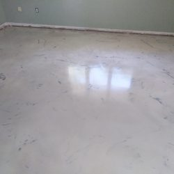 Metallic Epoxy floors with design features