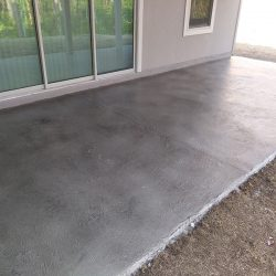 Outdoor patio concrete overlay in Jacksonville