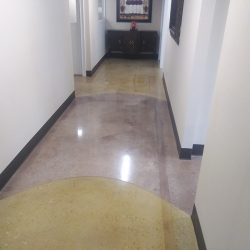 Beautiful polished concrete inside business
