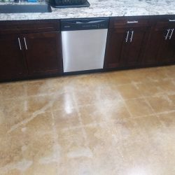 Beautiful polished concrete in kitchen