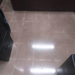 Polished concrete resembling tile work by FloorEver Solutions
