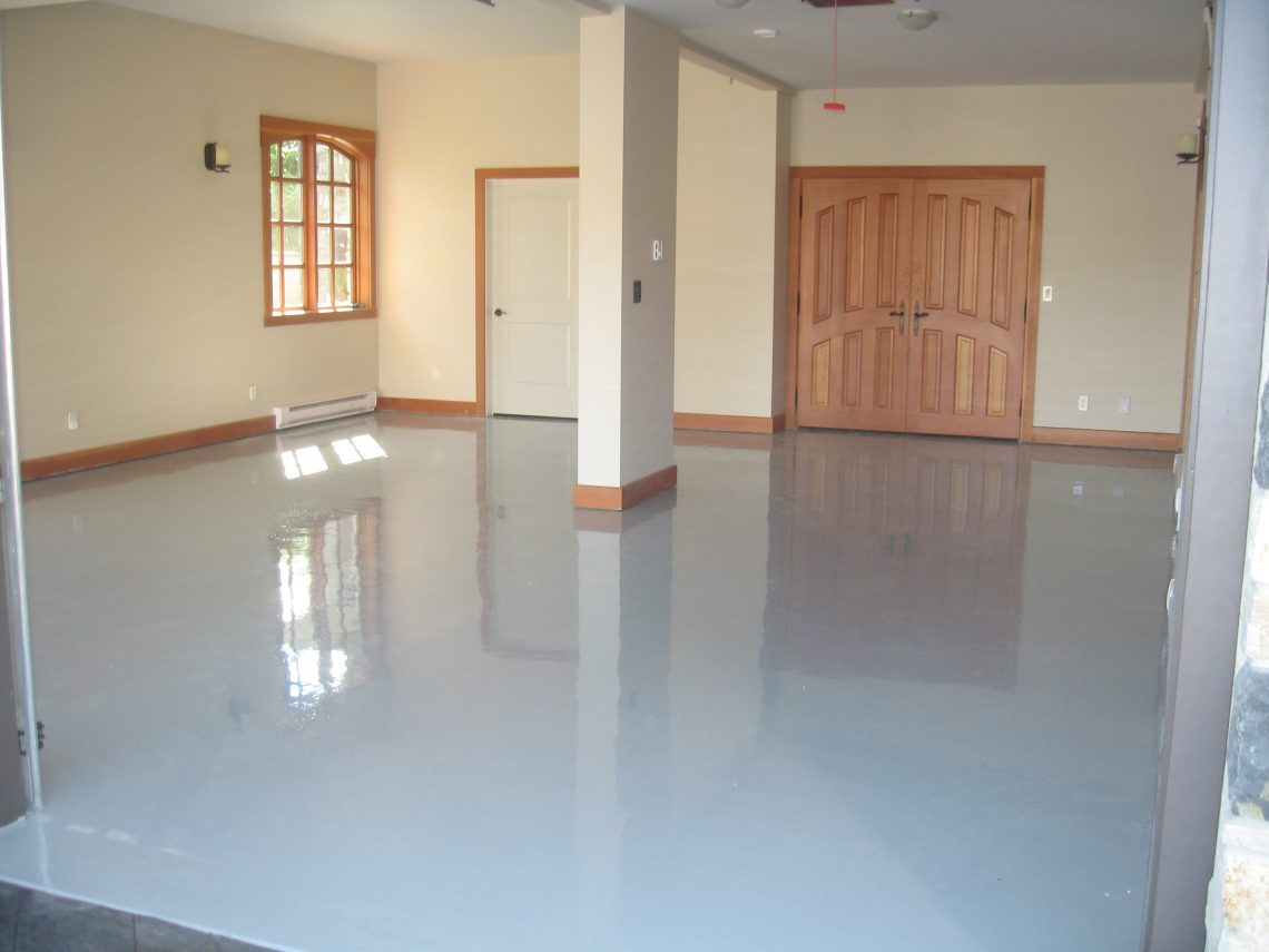Industrial Epoxy Floor In NJ Grey Flooring With Urethane Top Coat