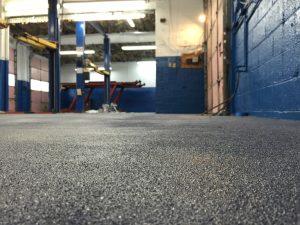 Polyaspartic Floors Floor Skinz - Mechanic shop flooring