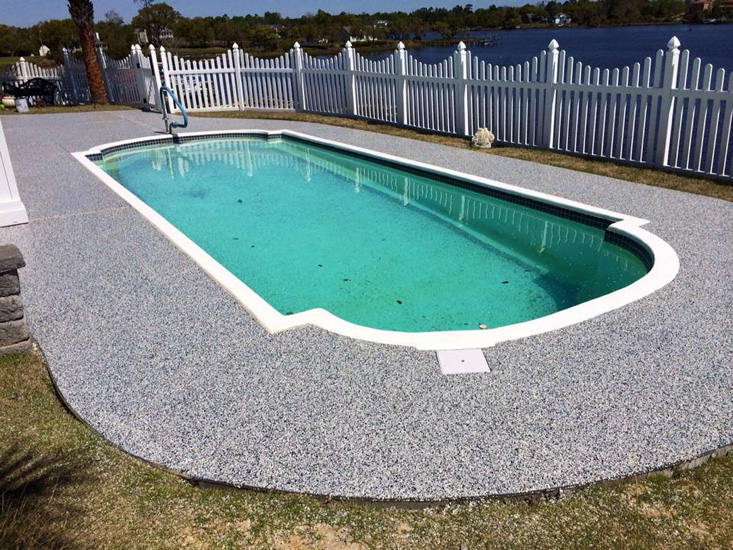 Waterproof Epoxy For Swimming Pools : Pool deck coatings concrete paint