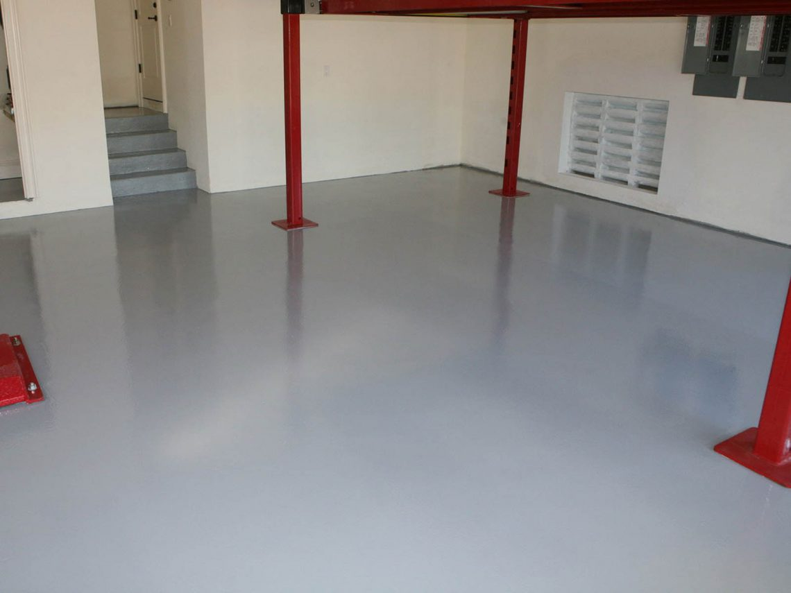 basement epoxy flooring over vapor barrier