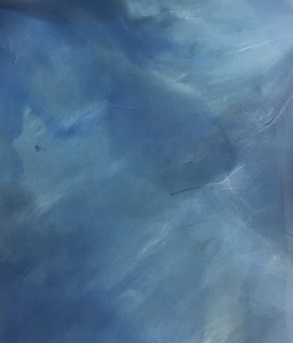 Sky Blue Metallic Epoxy Floor