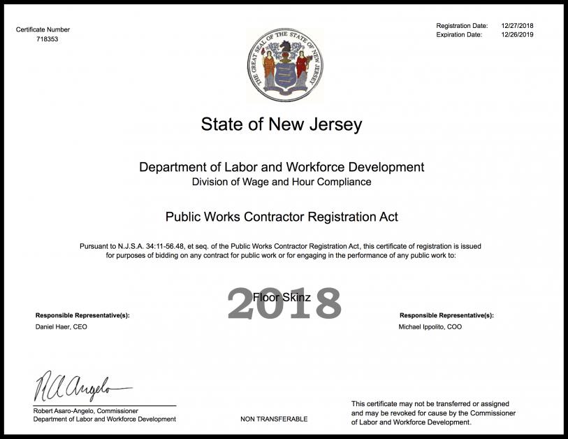 NJ Public Works Epoxy flooring Contractor | 856-455-6777 | Floor Skinz