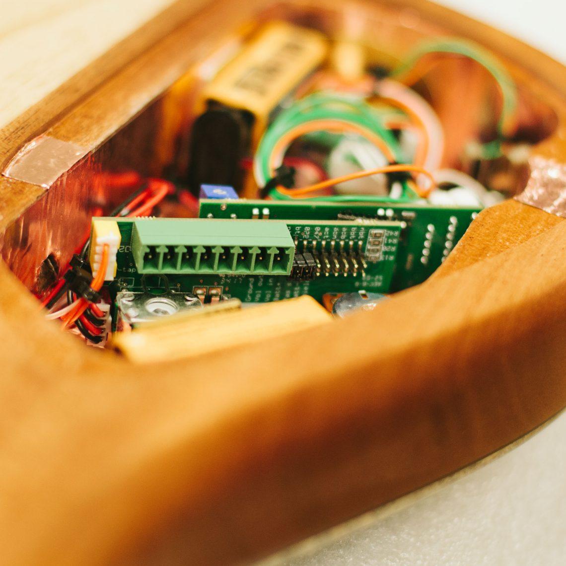 Bass Guitar Pickup Circuitry Closeup