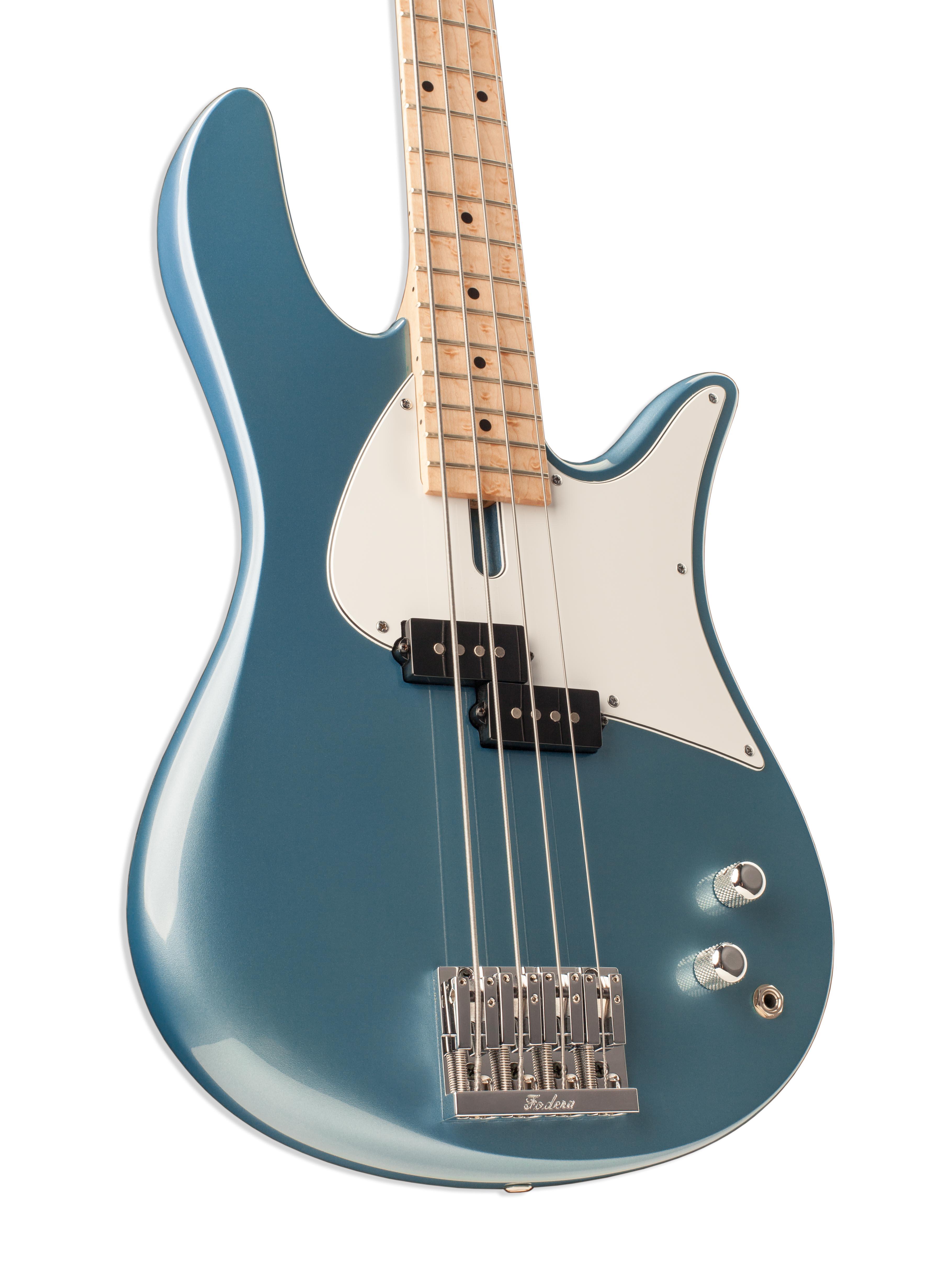 Four-String Seafoam Bass Guitar Body Closeup