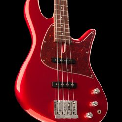 Cherry Red Four-String Bass Guitar