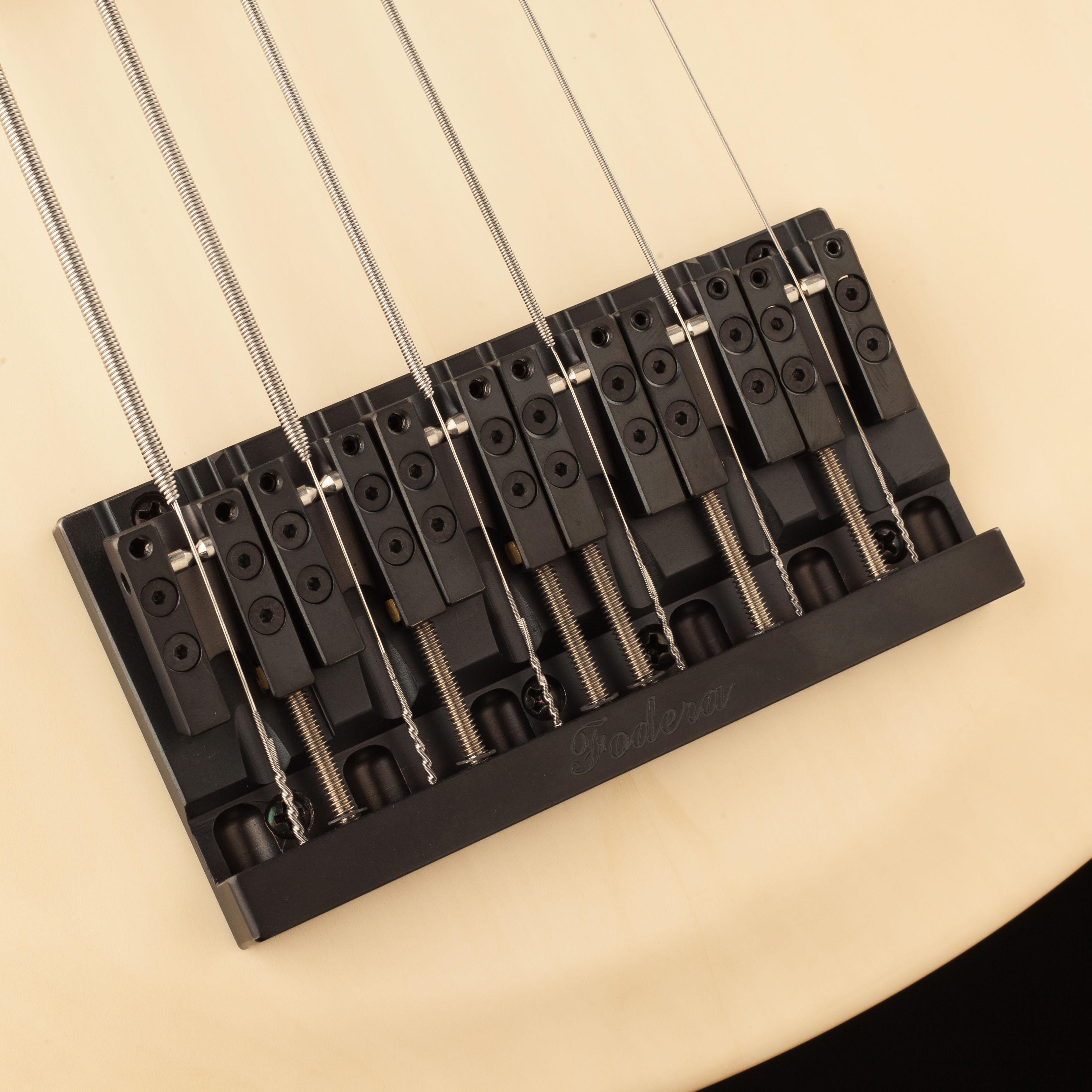 Five-String Guitar Strings Closeup