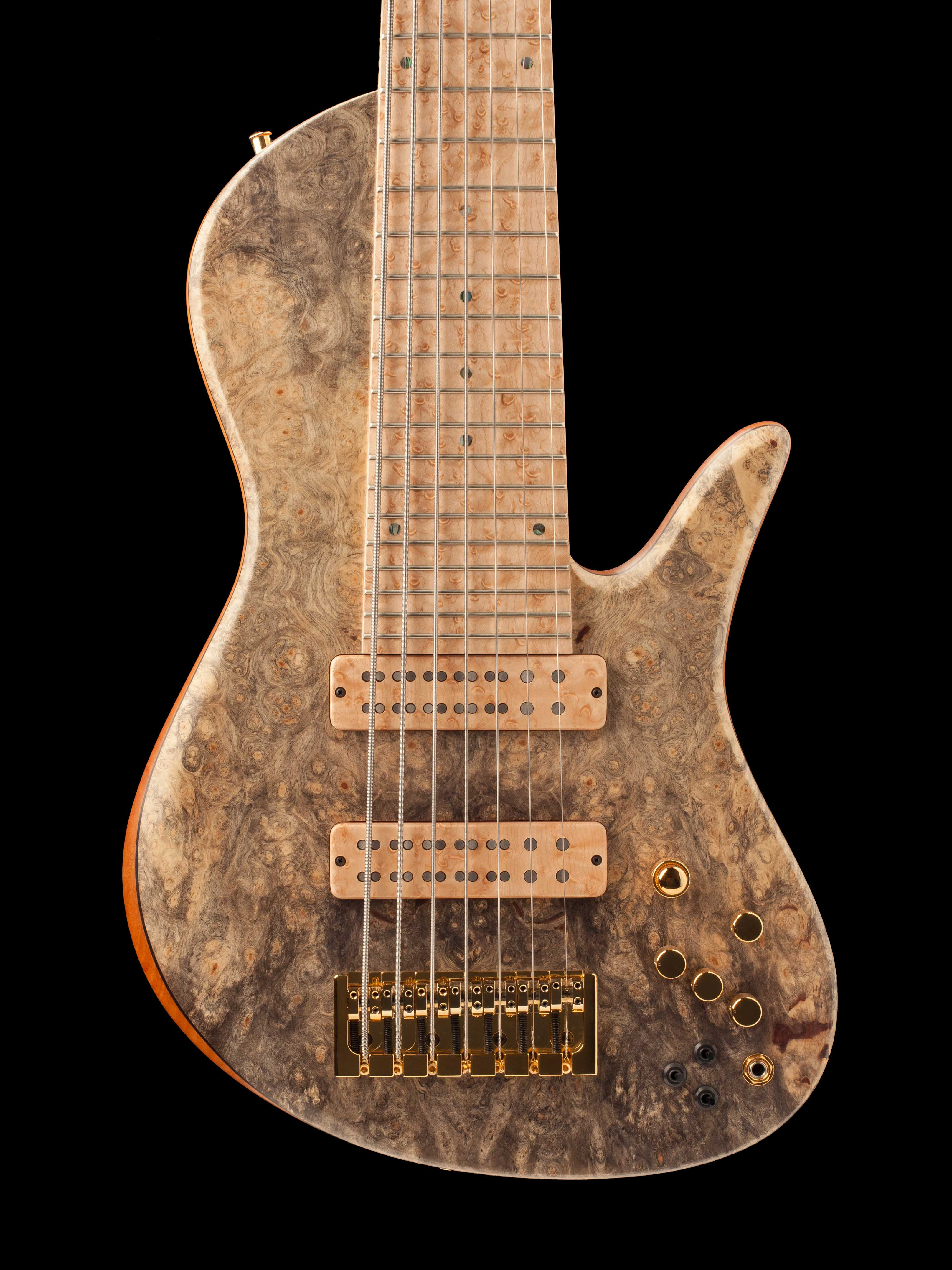 Custom Seven-String Hybrid Guitar