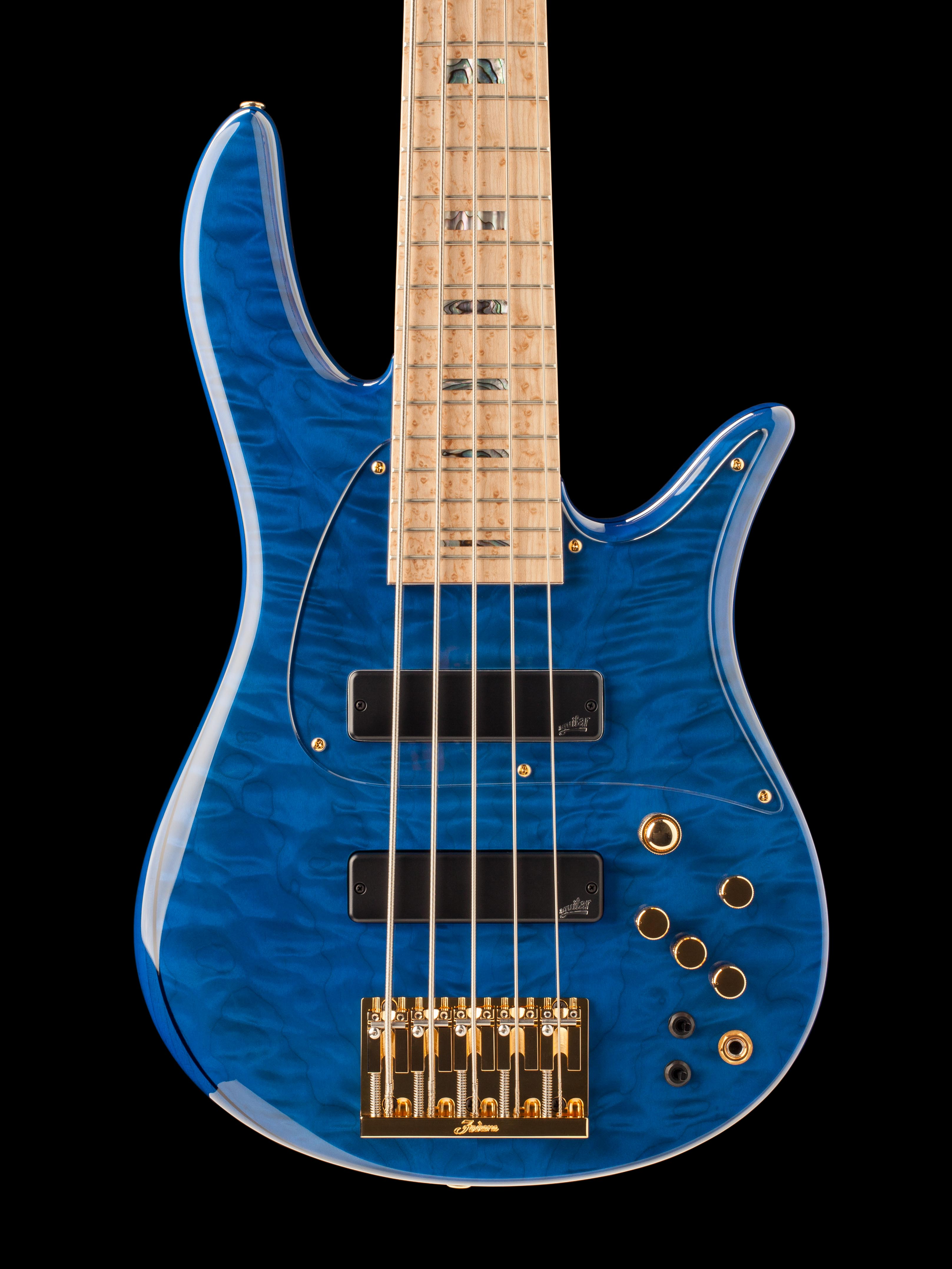 Five-String Blue-Bodied Guitar