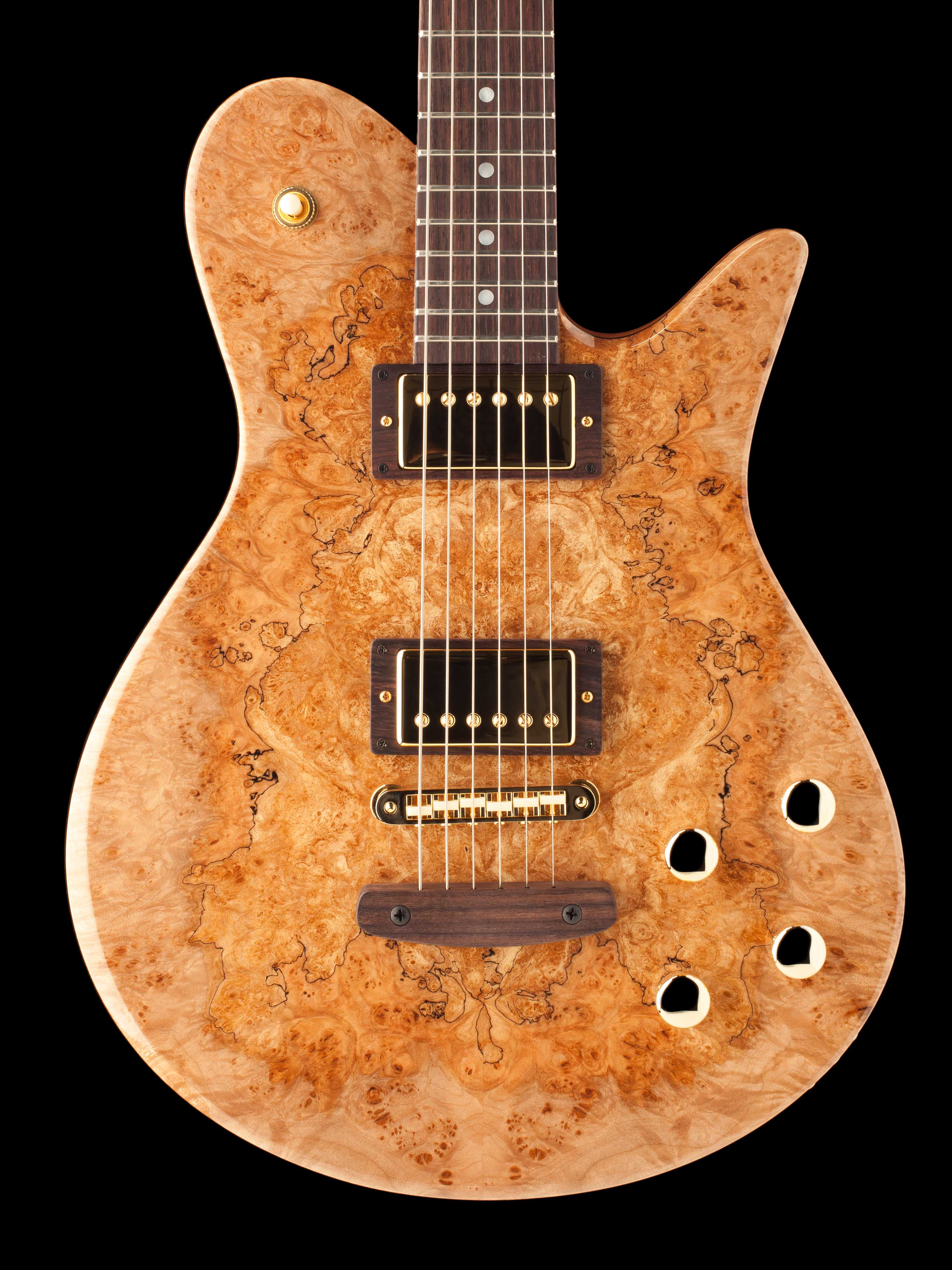 6-String Guitar With Burled Topwood