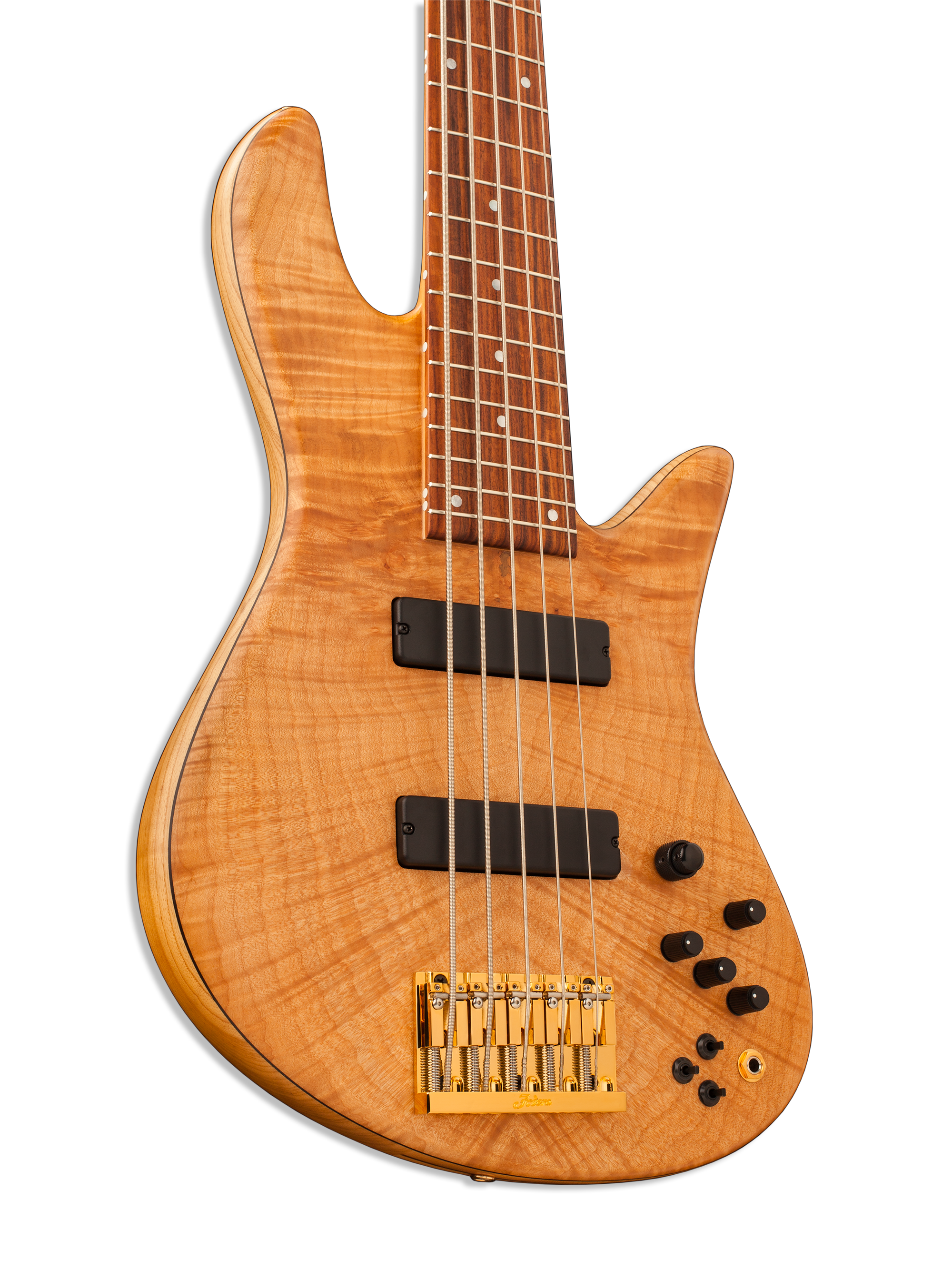 5-String Fodera Bass Body Closeup