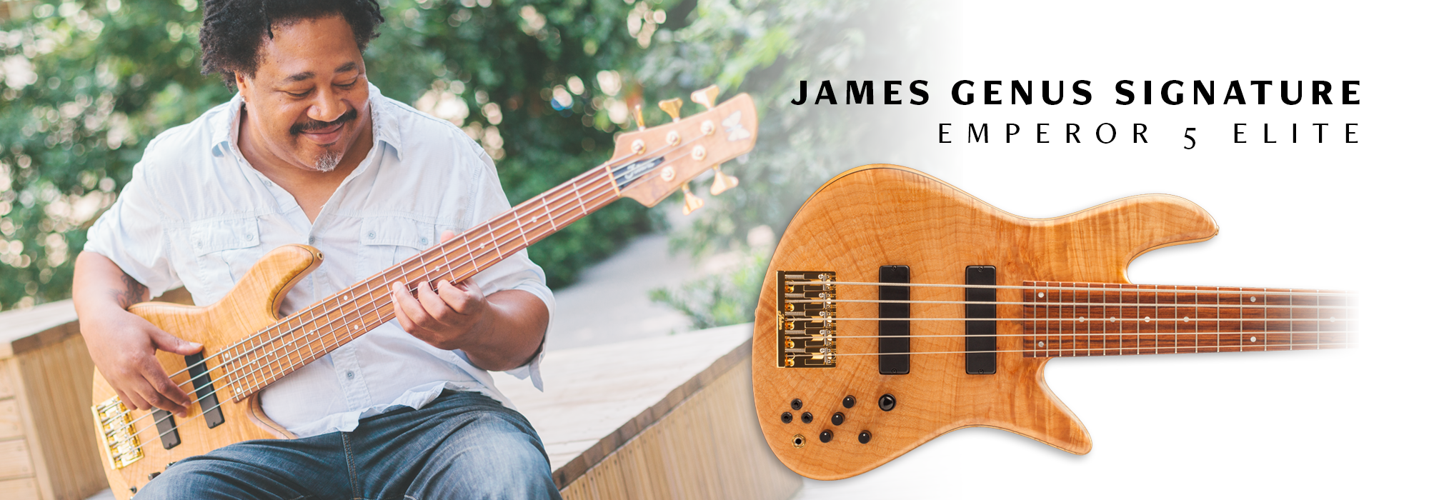 James Genus Signature Emperor 5 Elite Bass Guitar