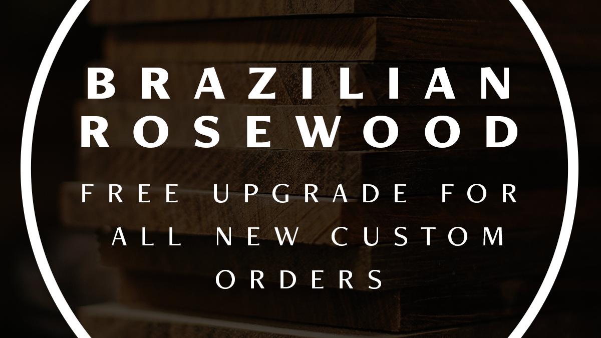Brazilian Rosewood Free With Fodera Custom Basses