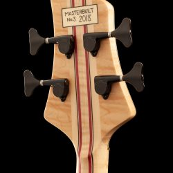 Masterbuilt Prairie Bass Guitar Headstock