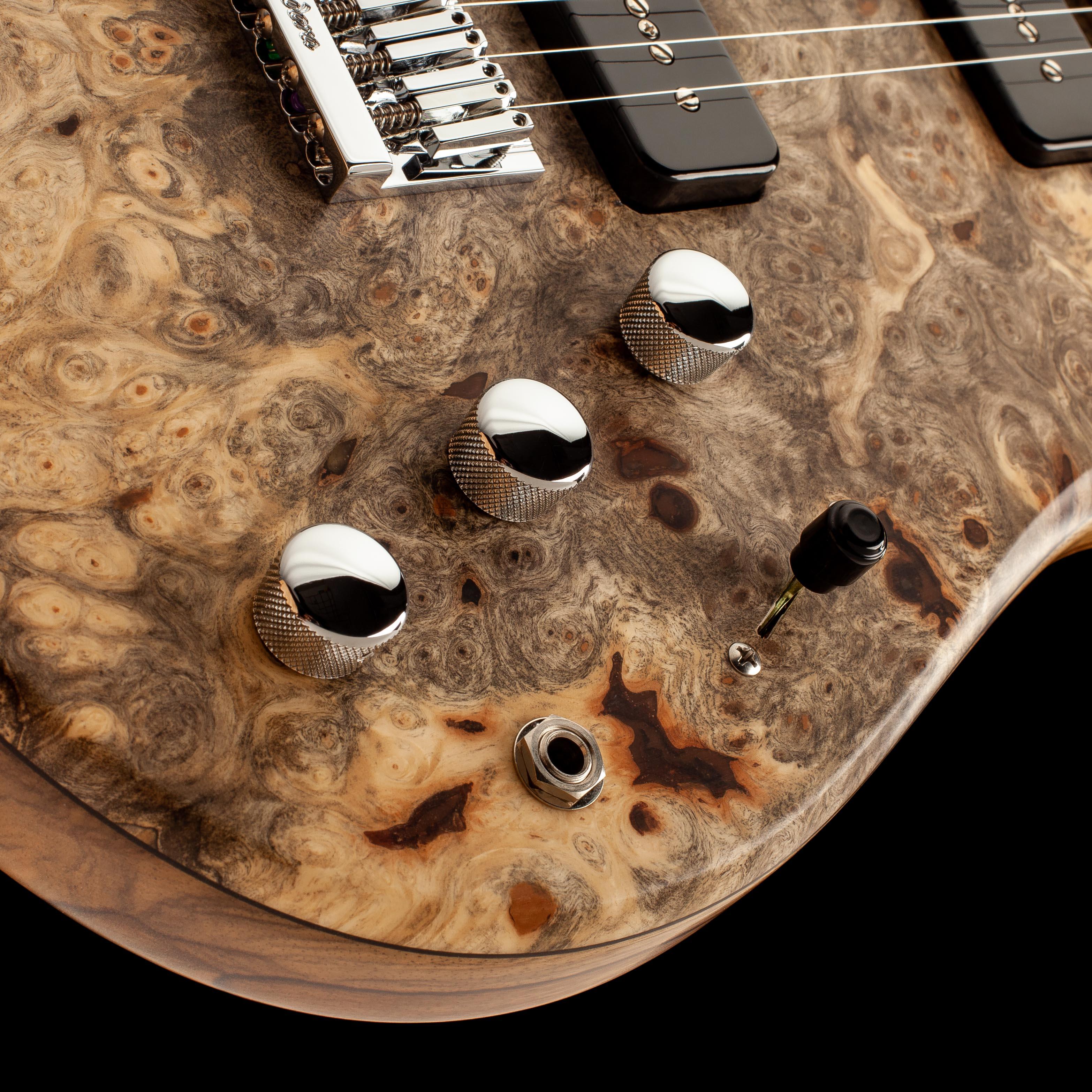 Bass Guitar Pickup Selector and Knobs