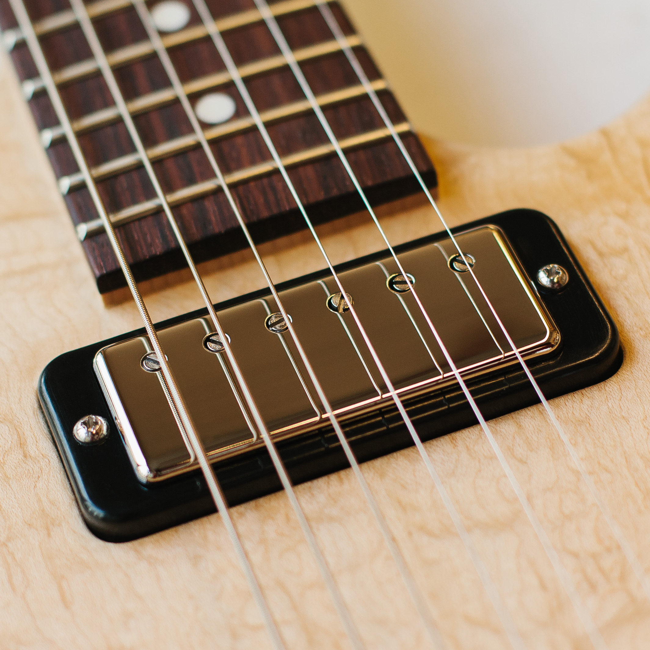 Closeup of Bass Guitar Pickup