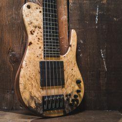 Burled Wood 5-String Bass
