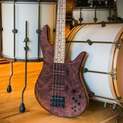 Dark Brown Burled Topwood Bass Guitar