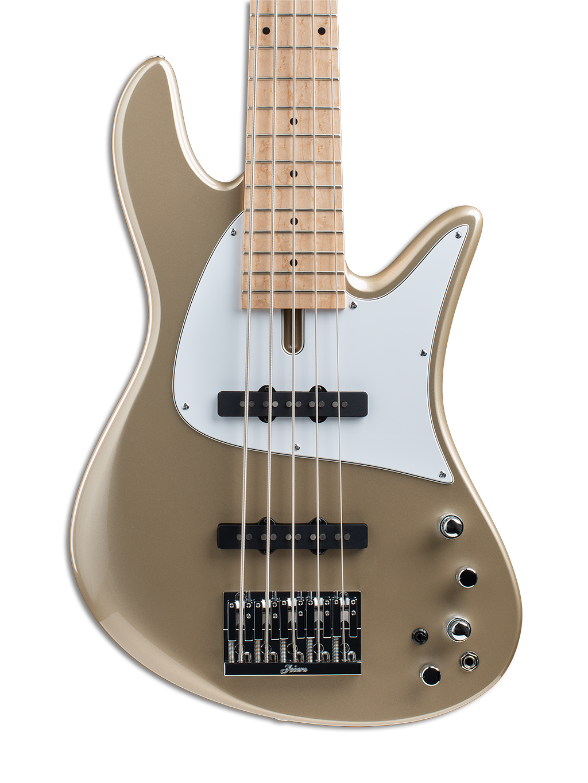 Olive Brown Painted Topwood 5-String Bass Guitar