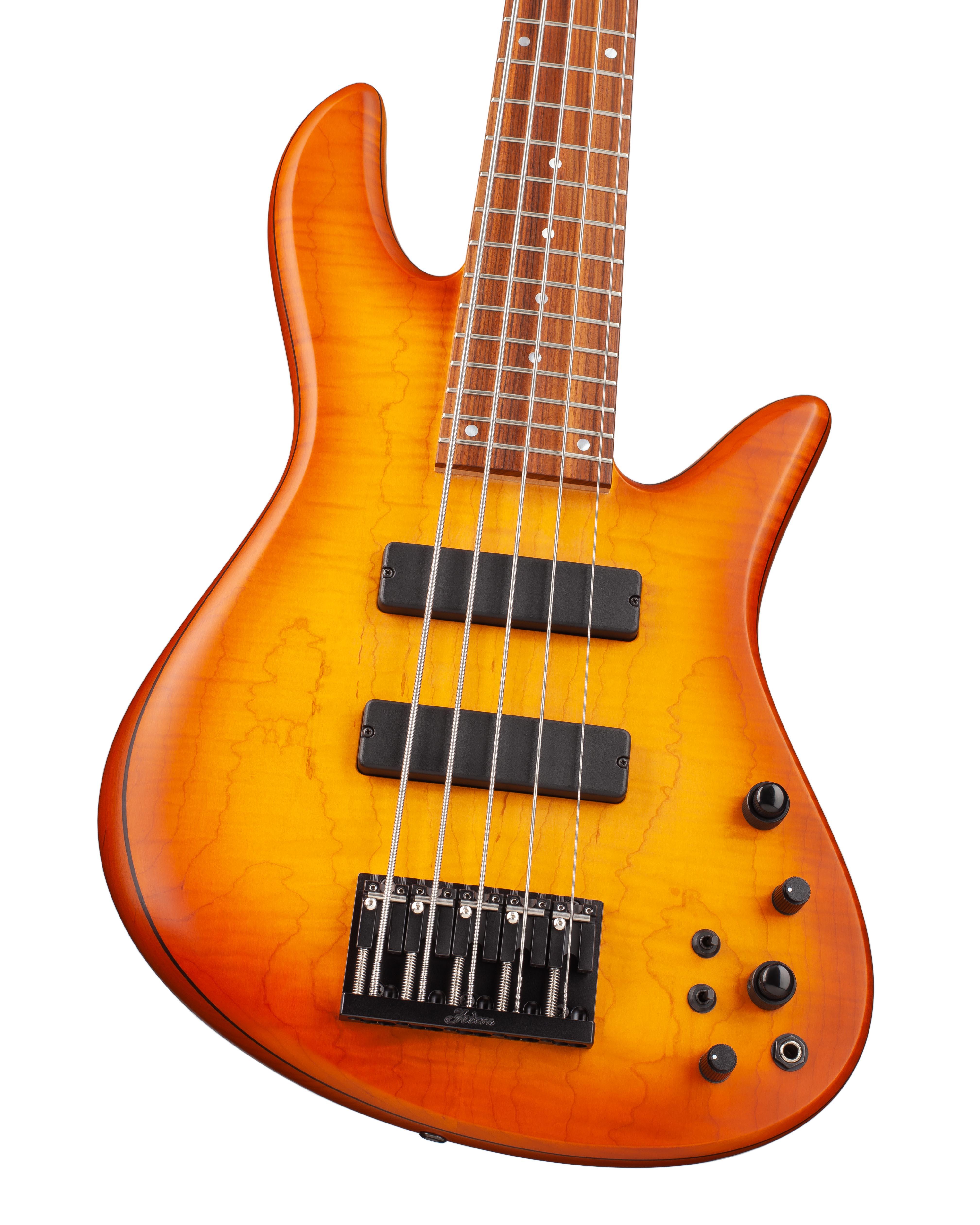 5-String Bass With Warm Orange Topwood