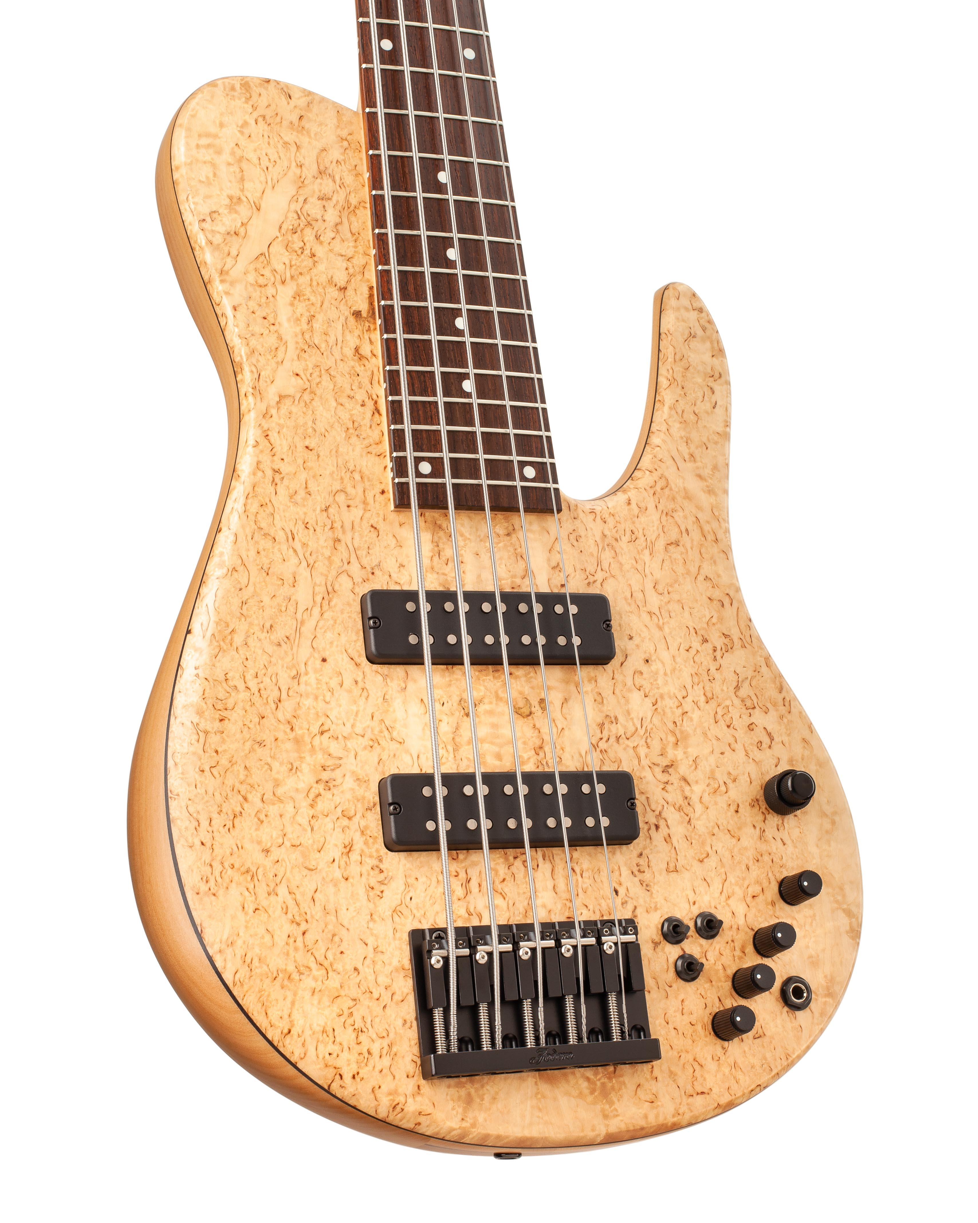 Custom Bass With Warm Marbled Topwood Front Body