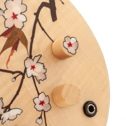 Masterbuilt Cherry Blossom Custom Bass Knob Inlay Detail