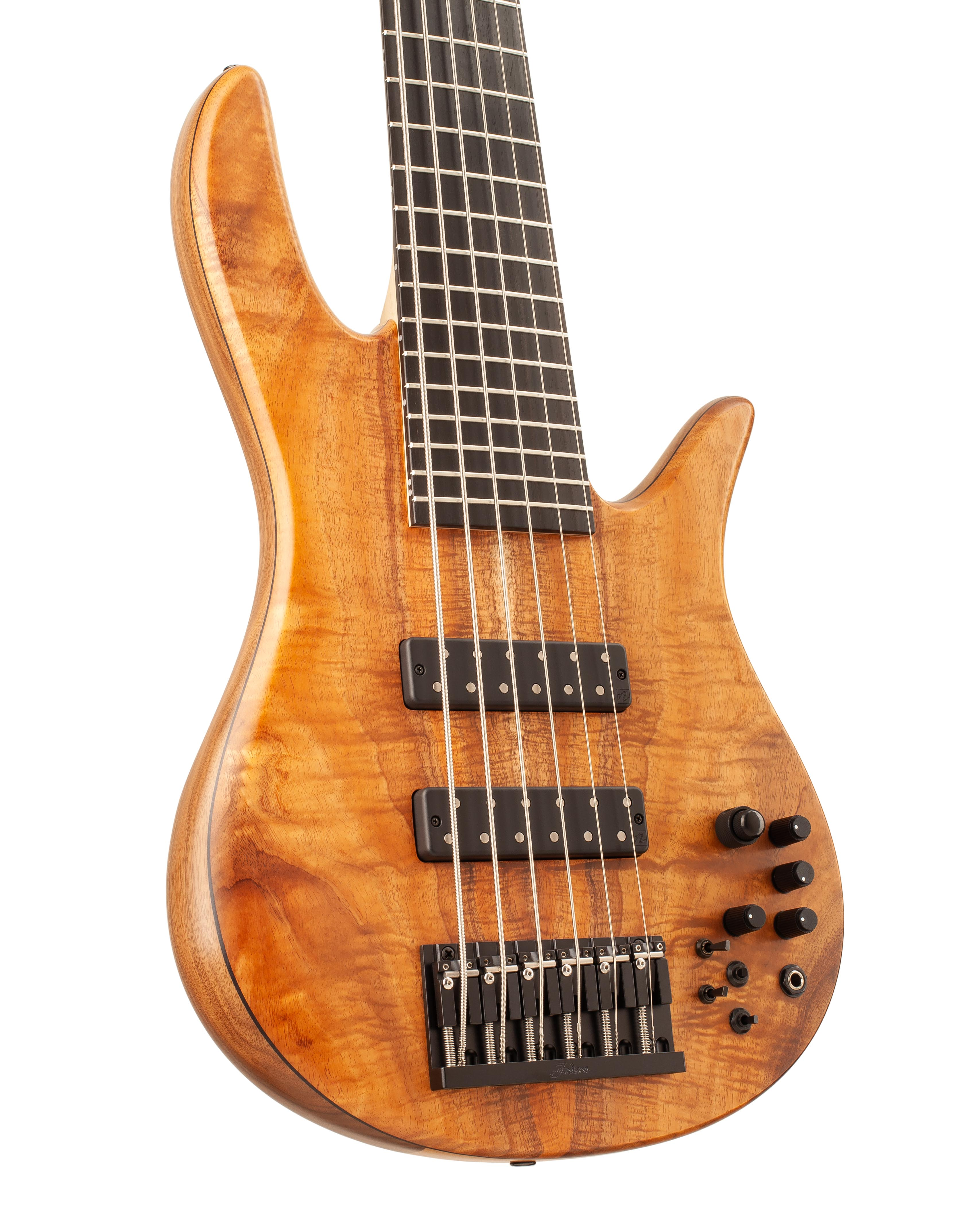 Six-String Bass With Warm Colored Topwood Front Body