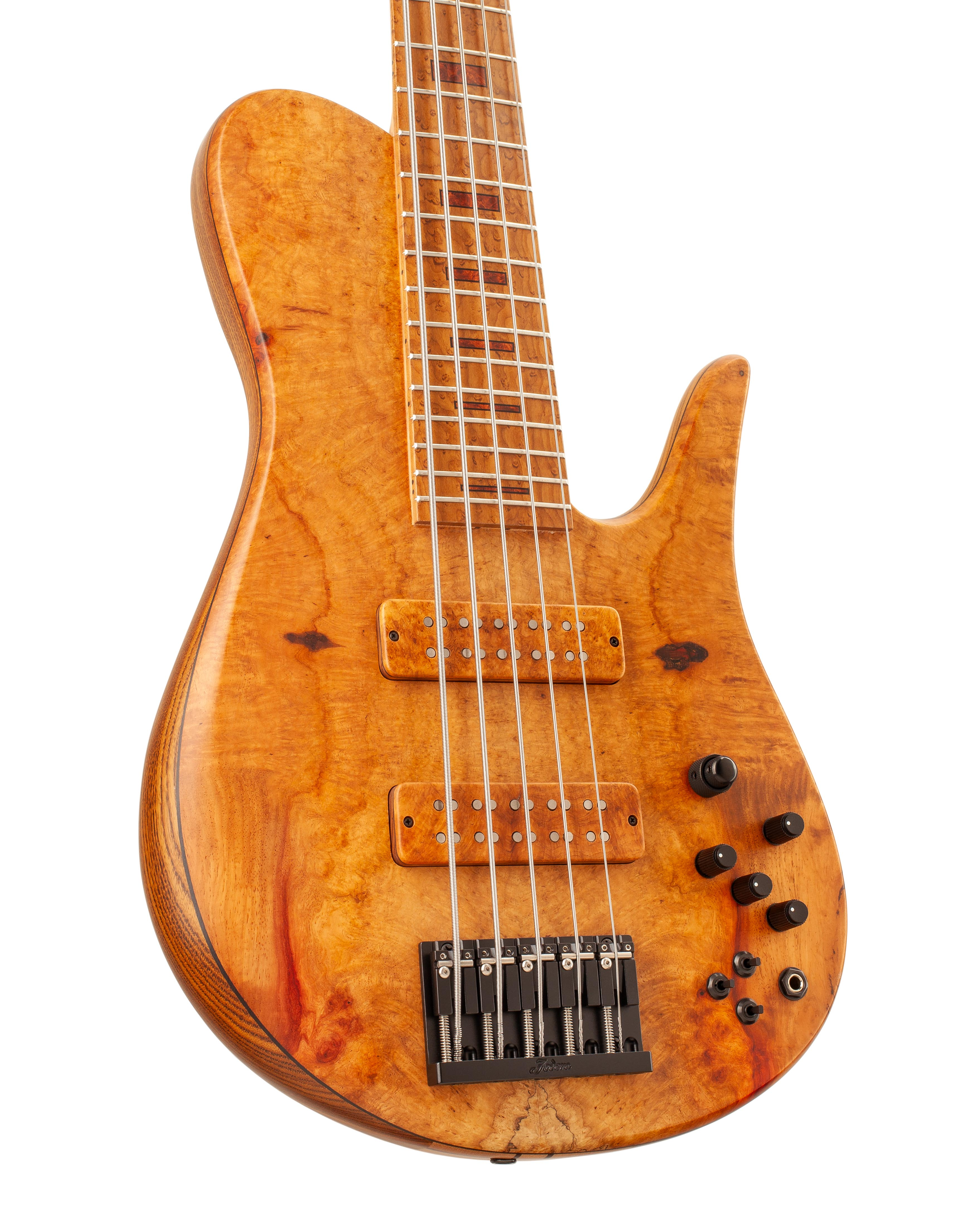 Five-String Bass With Warm Colored Topwood Front Body