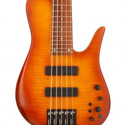 Custom Bass With Warm Colored Topwood Body