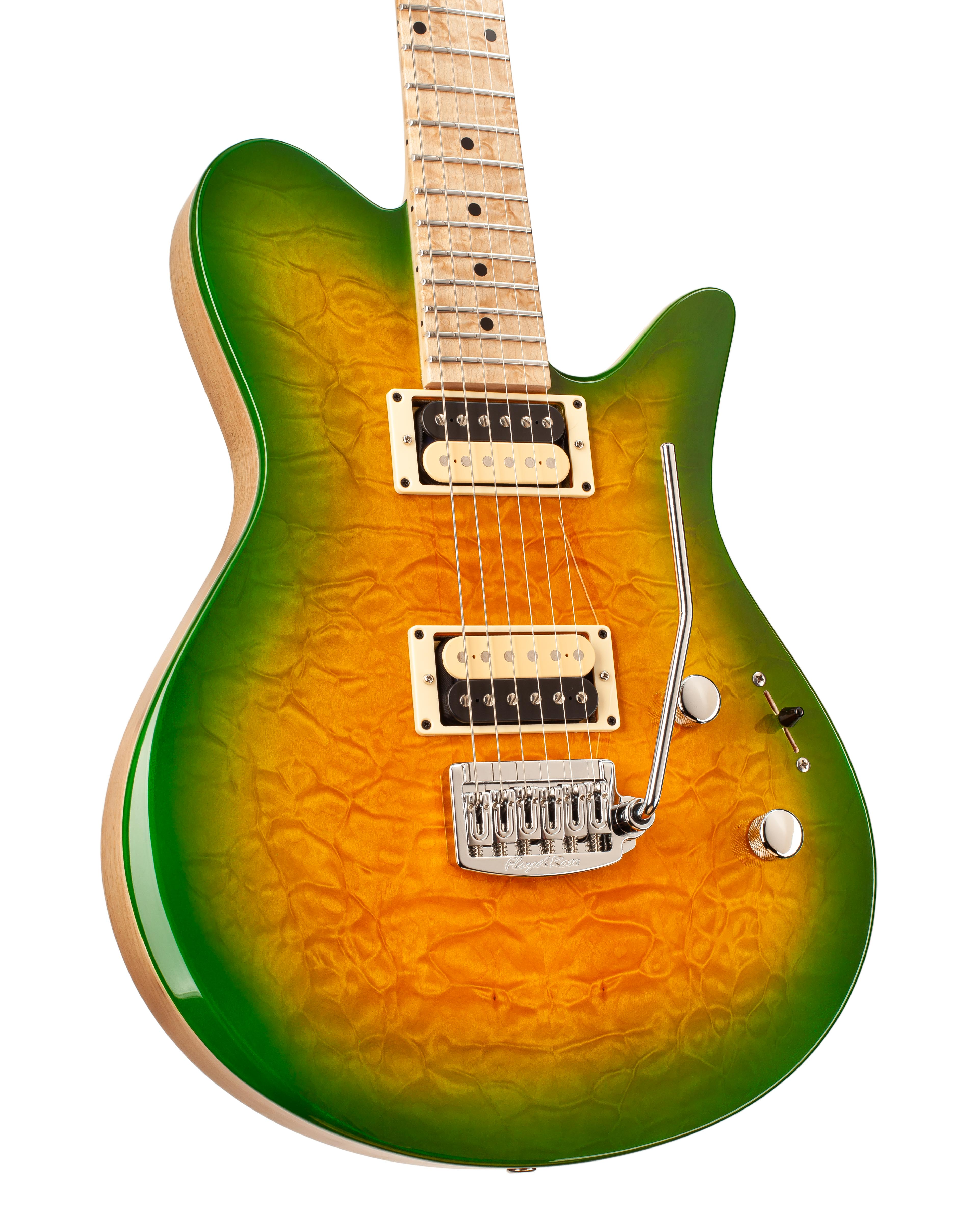 Electric Guitar With Green Vignette on Body