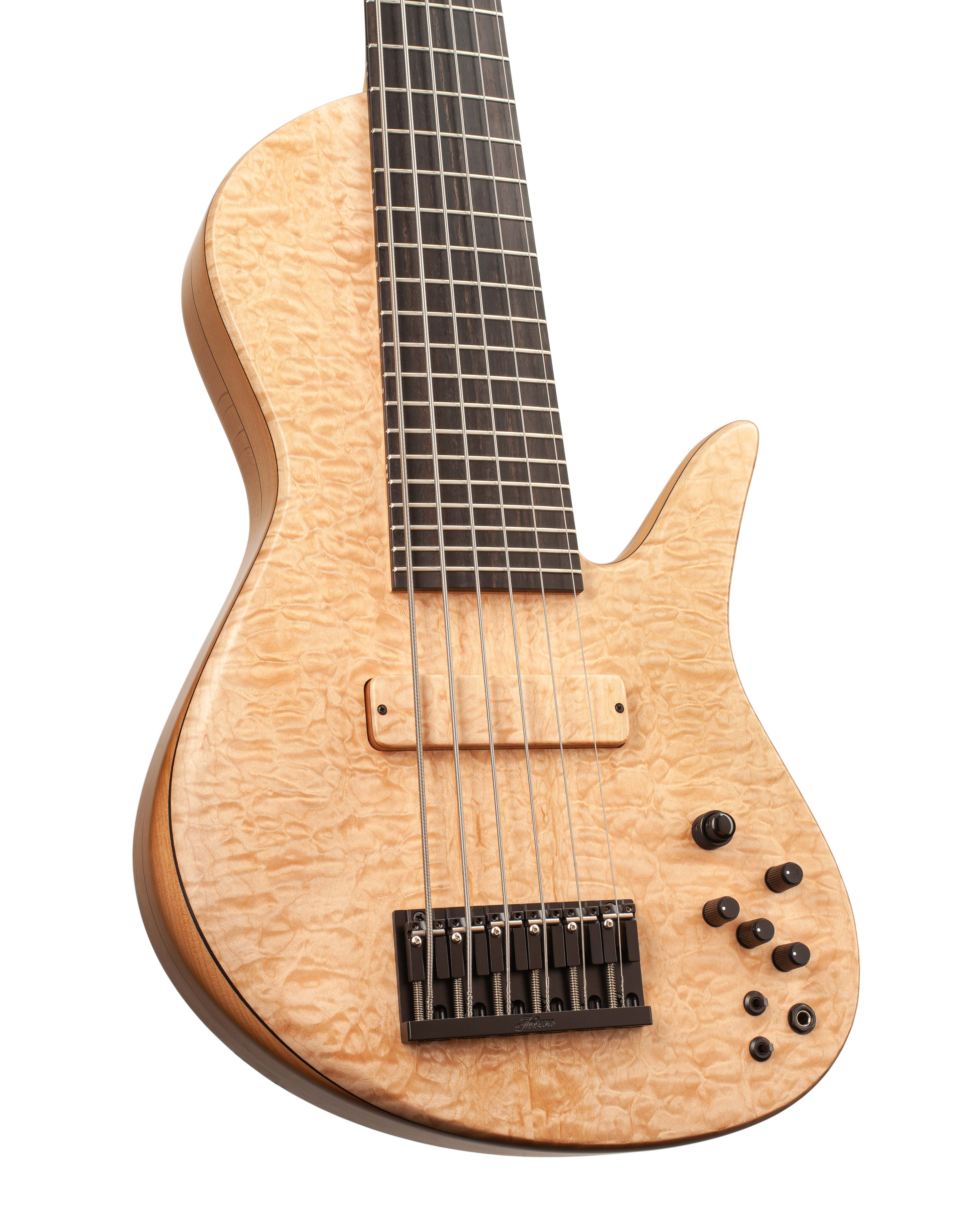Custom Bass With Light Brown Colored Topwood