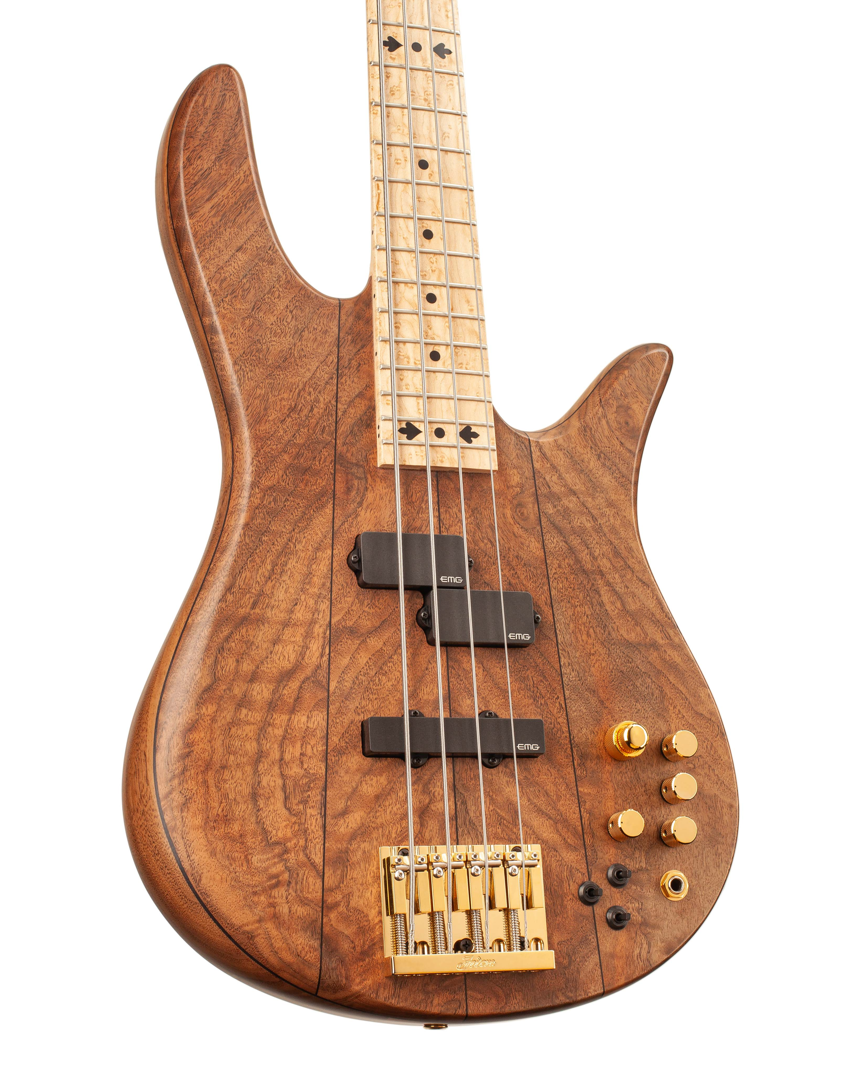 Custom Bass With Brown Colored Topwood