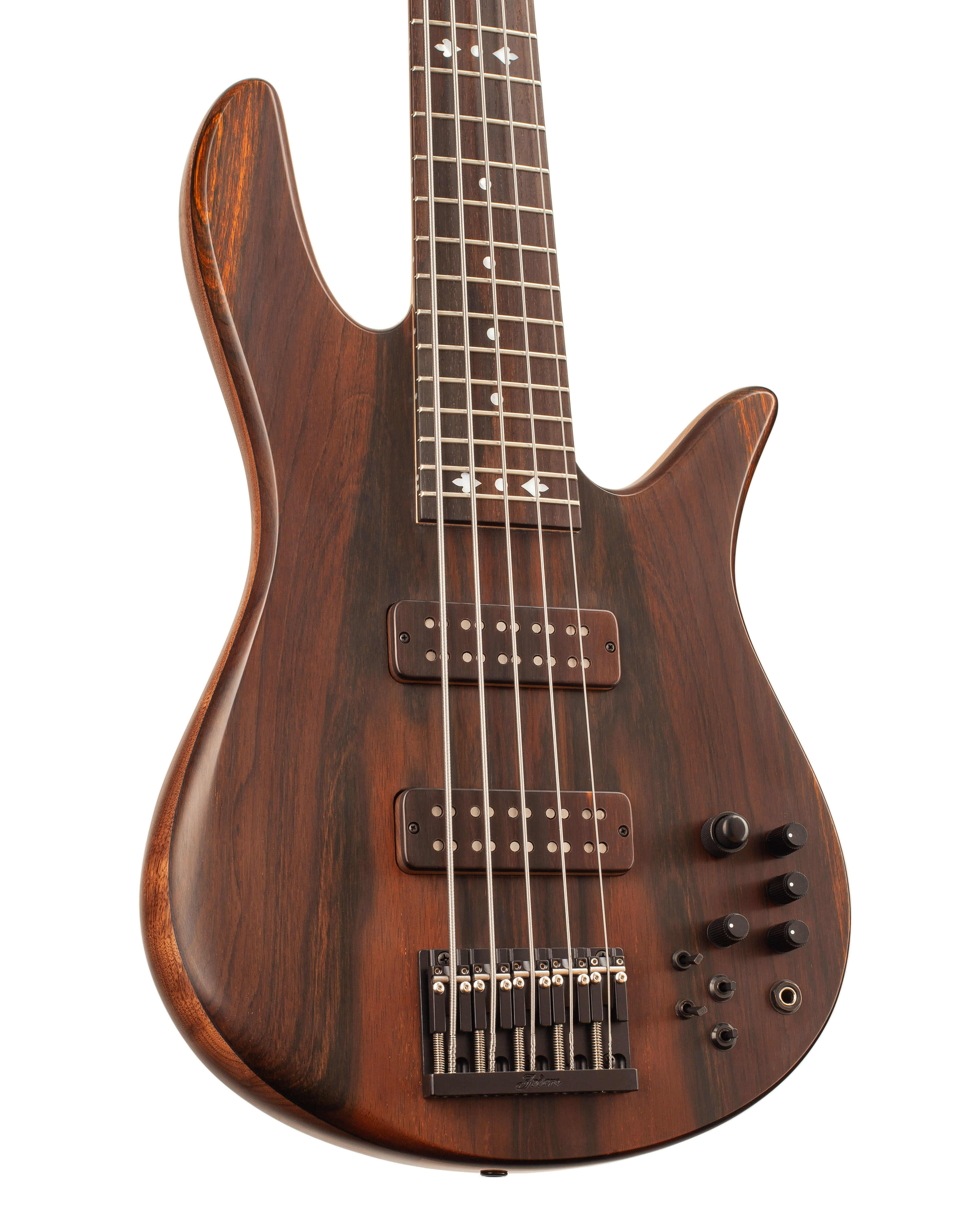 Custom Bass With Dark Brown Colored Topwood