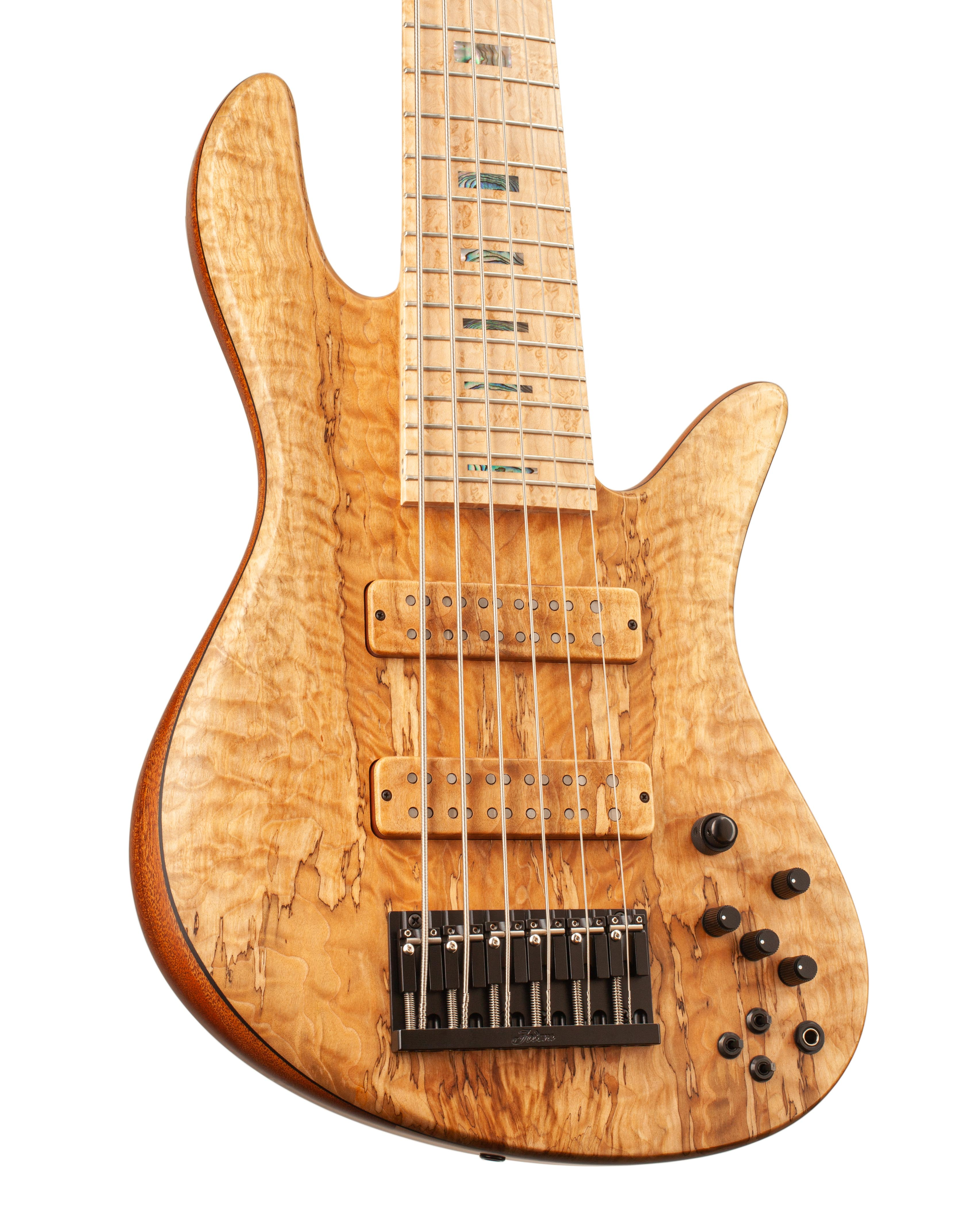Custom Bass With Maple Colored Topwood