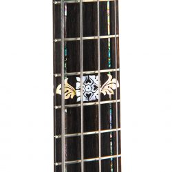 Masterbuilt Gothic Stained Glass Bass Guitar Neck Detail