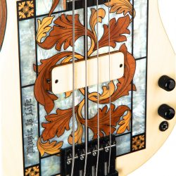Masterbuilt Gothic Stained Glass Bass Pickups Closeup