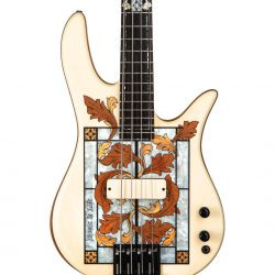 Masterbuilt Gothic Stained Glass Bass Guitar Front of Body