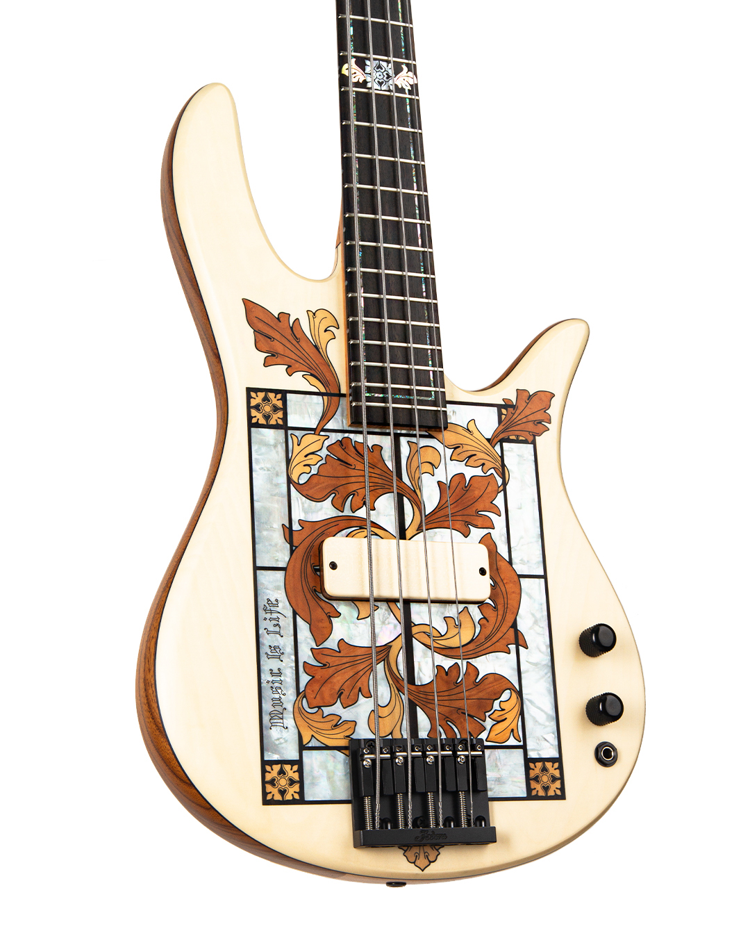 Masterbuilt Gothic Stained Glass Bass Body Left Side