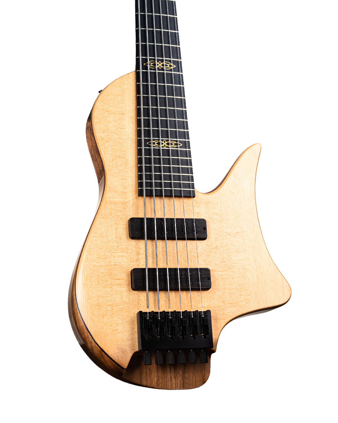 Masterbuilt Crescent Bass Guitar Front Body From Below