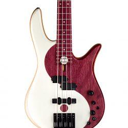 Purple Heart Yin Yang Bass Guitar Body Closeup