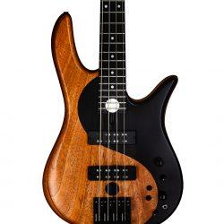 Mahogany Yin Yang Series Bass Guitar Body Front
