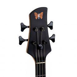Mahogany Yin Yang Series Bass Guitar Headstock and Tuning Pegs Front