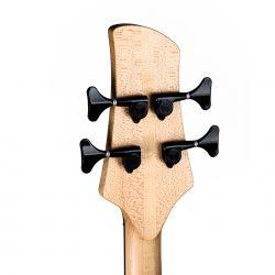 Mahogany Yin Yang Series Bass Guitar Headstock