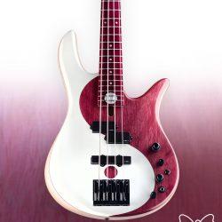 Purple Heart Custom Bass Guitar